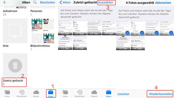 Anleitung Wie Kann Man Geloschte Fotos Vom Iphone 8 X 7 6s 5s 4s Mit Ohne Backup Wiederherstellen